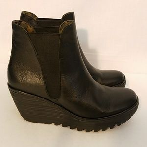 Fly London NWOT Yoss Wedge Bootie